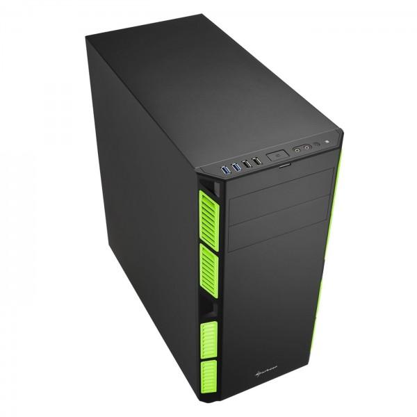 Gehäuse Sharkoon AI 7000 Silent Green ATX gedämmt