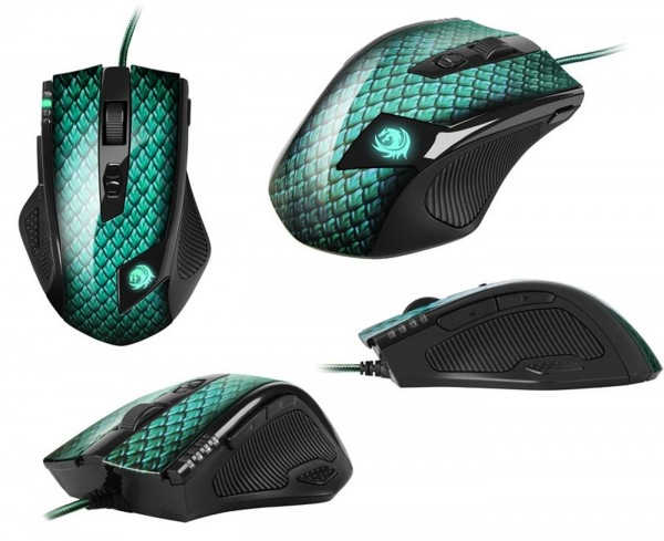 "Maus Sharkoon Drakonia ""Green"" Gaming Laser 8200dpi"