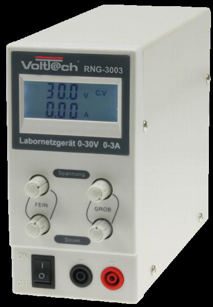Labornetzteil regelbar 0-30V/0-3A LCD RNG-3003