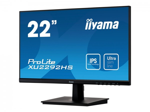 "Monitor Iiyama 22"" Prolite XU2292HS Ultra Slim FHD HDMI DP VGA"