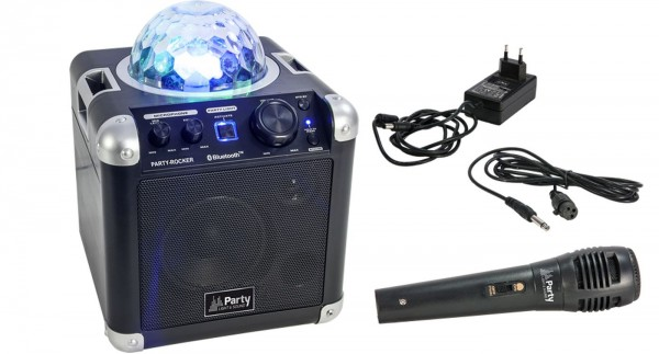 Tragbarer Lautsprecher LED-Effekt PARTY ROCKER USB/Bluetooth
