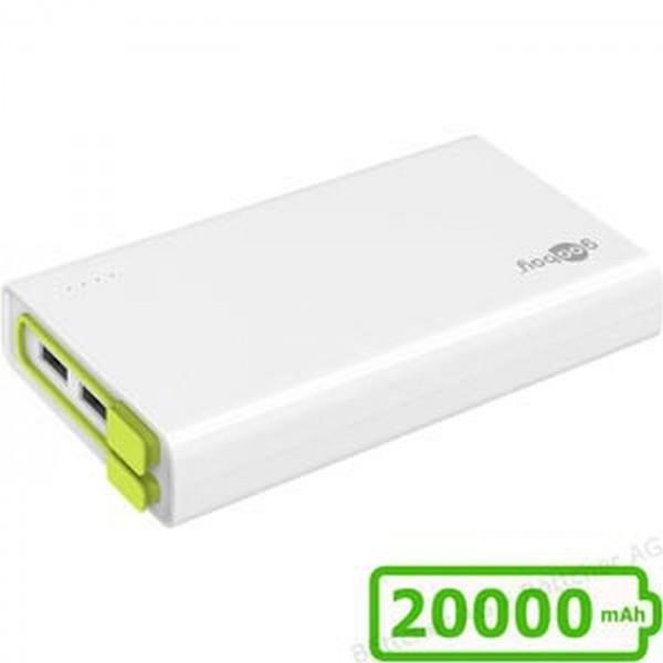 Powerbank Goobay 20000mAh weiß 3xUSB 72204