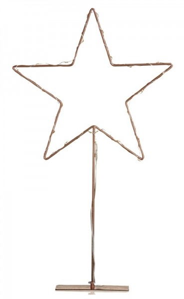 Metallstern LED Kupfer 60cm Björkgarden Standfuß